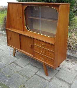 Vintage jaren 50 buffetkast highboard bergkast for Jaren 50 60 meubels